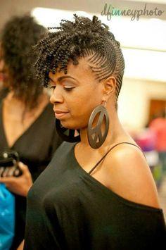 Very cute African American Braided Hairstyles, African Braids Hairstyles, Twist Hairstyles, Natural Hairstyles, Natural Braid Styles, Natural Hair Braids, Short Hair Styles, Natural Updo, Natural Mohawk