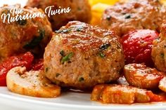 Southwestern Mini Turkey Meatballs | Only 25 Calories per Meatball | Moist & Not dried out thanks to @dannonoikos