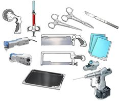View an image titled 'Medical Tools Art' in our Doom art gallery featuring official character designs, concept art, and promo pictures. Interior Design Color Schemes, Clinic Interior Design, Colorful Interior Design, Medical Laboratory Science, Science Humor, Workouts For Teens, Fun Workouts, Doom 2016, Office Supply Organization