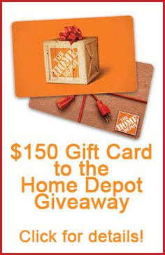 $150 giveaway to Home Depot! remodelaholic.com #giveaway