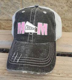 a8ff08904c481 Cheer Mom Hat Bling cheer hats cheer mom trucker by CapsbyKari Cheer Mom  Shirts