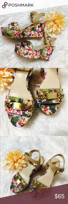 Selling this Guess Dalita Platform Wedges Sandals on Poshmark! My username is: onas. #shopmycloset #poshmark #fashion #shopping #style #forsale #Guess #Shoes