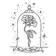 Beauty And The Beast Rose Drawing Step 7 Crafty Inspirations