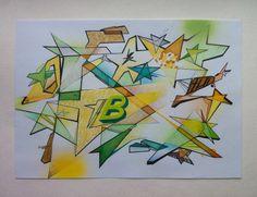 Stars abstraction. Art.