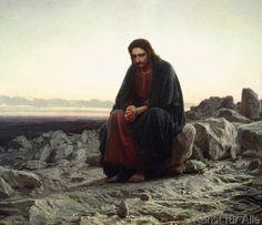 Iwan Nikolajewitsch Kramskoi - Christus in der Wüste