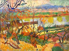 """""""La rivière"""" (1904-1905) -""""La rivière"""" (1904-1905) - André Derain was a French artist, painter, sculptor and co-founder of Fauvism with Henri Matisse."""