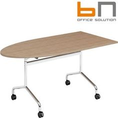 BN Flib Half Oval Folding Meeting Tables  www.officefurnitureonline.co.uk
