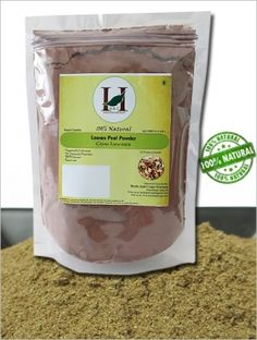 100% NATURAL LEMON PEEL POWDER - CITRUS LIMONUM 227 GMS / 1/2 LB POUND / 08 OZ - HELPS IN DETAINING SKIN. A 100% NATURAL BLEACHING PRODUCT- PROCESSED IN FDA REGISTERED FACILITY