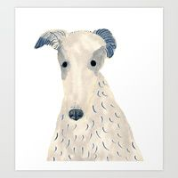 Art Print featuring BORZOI by ITSUKO SUZUKI