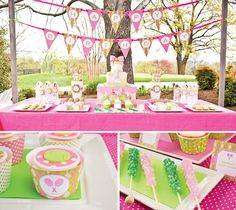 Birthday party table decor
