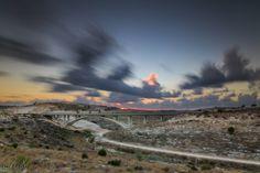 Sunset over the bridge Modiin, Israel Over The Bridge, Scenic Photography, Long Exposure, Milky Way, Israel, Sunrise, Nature, Prints, Beautiful