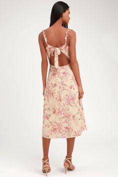 6b74ed798e True Decadence Square Neck Cami Strap Midi Lace Dress With Ruffle ...