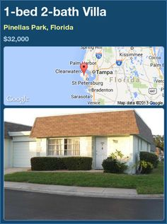 1-bed 2-bath Villa in Pinellas Park, Florida ►$32,000 #PropertyForSale #RealEstate #Florida http://florida-magic.com/properties/90684-villa-for-sale-in-pinellas-park-florida-with-1-bedroom-2-bathroom