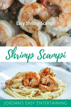 This easy shrimp scampi recipe is a must if your need some yummy shrimp recipes to add to your dinner menu planning. Succulent shrimp sauteed in a garlic, white wine butter sauce is super special but it's also quick and easy. Delicious Shrimp Scampi Recipe, Easy Shrimp Scampi, Shrimp Recipes For Dinner, Grilled Shrimp Recipes, Shrimp Recipes Easy, Baked Shrimp, Easy Dinner Recipes, Seafood Recipes, Easy Meals