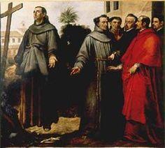Saint Didacus of Alcalá in ecstasy before the cross - Bartolome Esteban Murillo