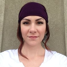 Solid Plum Purple Turban OR Fabric Wrap Head Wrap Headband on Etsy, $10.99