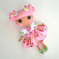 Strawberry Shortcake Dress for Full Size Lalaloopsy Doll by PistachioLoopsy. $18.00, via Etsy.