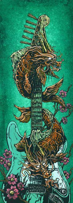 Koi Dragon Strat by David Lozeau