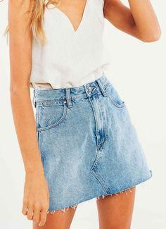Repair Mini Skirt - Sunset Vintage