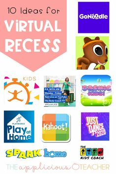 Love these 10 virtual recess ideas. Perfect for getting your distance learning students up and moving!