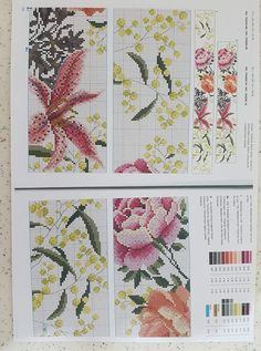 Cross Stitch Embroidery, Hand Embroidery, Cross Stitch Patterns, Rico Design, Cross Stitch Flowers, Exotic Flowers, Hand Towels, Bookmarks, Needlework