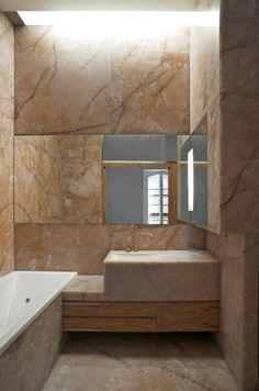 Trendy bathroom - Arles Bad in Olive