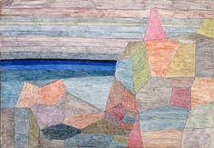 Paul Klee, Promontorio Ph., 1933. Acuarela sobre imprimación de pasta de zinc blanca en la madera contrachapada, 27.5 x 39.5 cm, Kunstmuseum, Basilea, Suiza