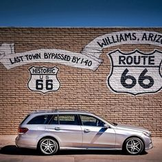 The E-Class wagon taking a stroll down Route 66