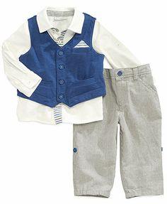 First Impressions Baby Boys' 3-Piece Shirt, Vest & Pants Set