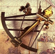 L8.2 'Having thus dealt masterfully with Mr Collins' quibbles and allowed him to step gracefully out of a business where he was likely all at sea,' idiom: all at sea - unsure of direction. This pic - Sextant.