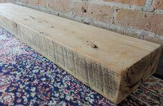 "Reclaimed Barn Beam - 43"" x 8"" x 3""- Floating Shelf - Fireplace Mantel - Rustic Mantle Shelf - Barnwood Shelf - Rustic Decor - Barnwood by RusticbiltDecor on Etsy"