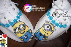 Oigalê I love Minions!!! Bjos coloridos e brilhantes