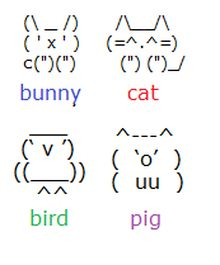 draw with keyboard symbols | UPDATE 7/1/12: I just made some more keyboard animals. If you want to ...