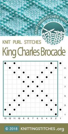 King Charles Brocade Knitting Stitch Patterns - King Charles B. - blacklake - King Charles Brocade Knitting Stitch Patterns – King Charles B… King Charles Brocade Knitting Stitch Patterns – King Charles Brocade Chart.