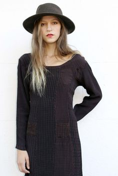 Plaid Brown and Black Easy Fall Dress