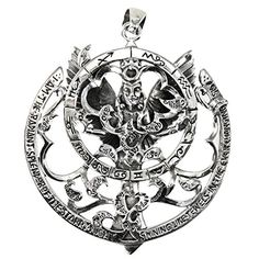 Bonyak Jewelry Guardian Angel Football Hand-Crafted Oval Medal Pendant in Sterling Silver