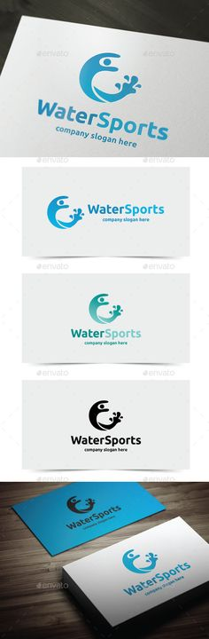Water Sports Logo Template PSD, Vector EPS, AI. Download here: http://graphicriver.net/item/water-sports/11355339?ref=ksioks