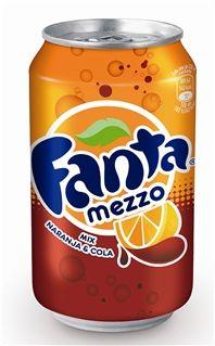 FANTA Mezzo mix Coca Cola, Fruity Pops, Fanta Can, Soda Bottles, Drinking, Beverages, Snacks, Canning, Sodas