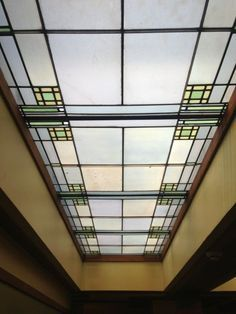 Stained Glass on Pinterest | Frank Lloyd Wright, Stained Glass and ... Cast Iron Table Base, Stained Glass Light, Oak Park, Frank Lloyd Wright, Ceiling Design, Blinds, Temple, Art Deco, Ceiling Lights