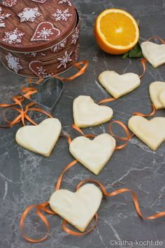 Weihnachtsgebäck - Orangen Plätzchen Chocolate Crinkle Cookies, Chocolate Crinkles, Apple Pie Cookies, Sugar Cookies, Butter Pecan, Peanut Butter, Bread Recipes, Cookie Recipes, Wedding Cookies
