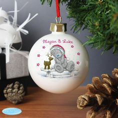 Personalised Me To You Reindeer Bauble Personalise this Me To You Christmas Bauble with name/s up to 20 characters on the front and a message to the back over 3 lines of 20 characters per line. All personalisation is case sensitive and wil http://www.MightGet.com/january-2017-13/personalised-me-to-you-reindeer-bauble.asp