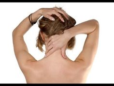 Video - self massage for neck pain - YouTube so helpful before bed.