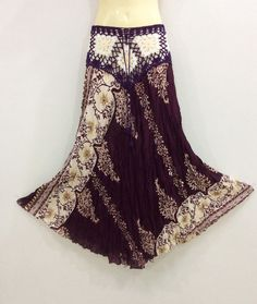 PEASANT BOHO MAXI LONG SKIRT PURPLE PLUM CROCHET FLORAL RAYON CASUAL SUMMER S-XL | Clothing, Shoes & Accessories, Women's Clothing, Skirts | eBay!