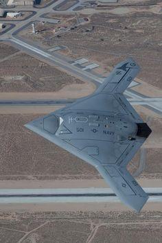 Northrop Grumman's new carrier-launched X-47B UAV.