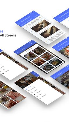 Recipes - Material Design - Free App Mockup on Behance