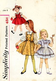 Vintage Sewing Pattern 1960s Child's Blouse and by thehalfhouse. $6.00, via Etsy.embellishment idea