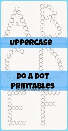 School Time Snippets: Uppercase Do A Dot Printables {Freebie} Preschool Literacy, Preschool Letters, Learning Letters, Literacy Activities, In Kindergarten, Kids Learning, Teaching Resources, Free Preschool, Alphabet Crafts