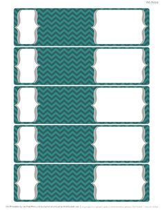 Free Envelope Wrap Printable Address Labels with a Chevron design. Seven colors to choice from.