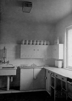 The kitchen in the Haus am Horn, designed by Benita Otte and Ernst Gebhardt, exhibited in Weimar, Germany in 1923.