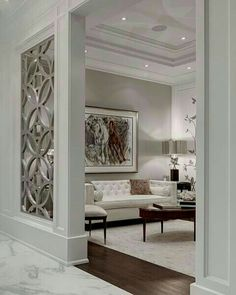 Claustra Walls for Your Interior Decor: Yes or No? Claustra Walls for Your Interior Decor: Yes or No? Living Room Designs, Living Room Decor, Living Spaces, Glamour Living Room, Luxury Living Rooms, Fancy Living Rooms, Elegant Living Room, Bedroom Designs, Modern Living
